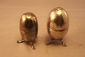 Antique Persian Silver Salt & Pepper Shakers.