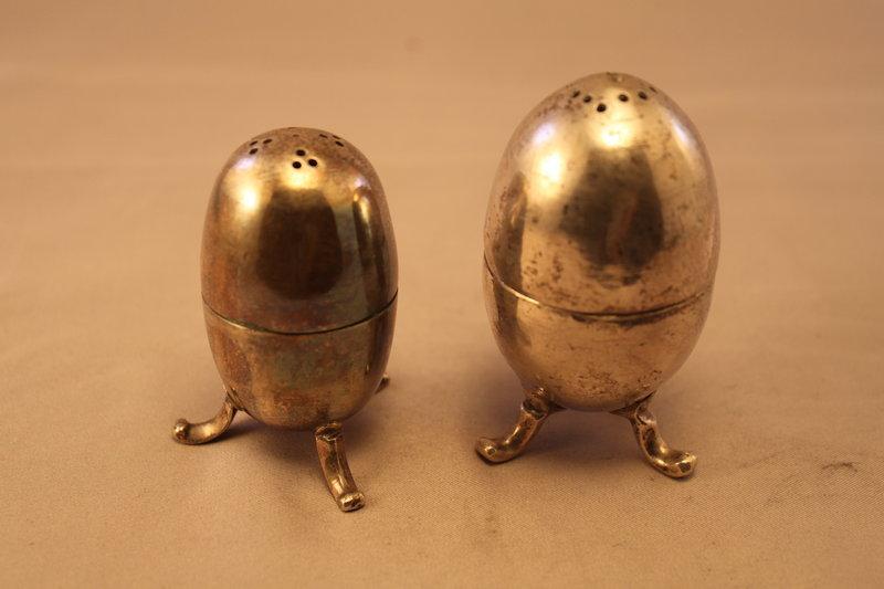 Antique Persian Silver Salt & Pepper Shakers.