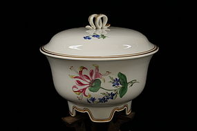 Meissen Floral Painted Porcelain Jar and Cover.