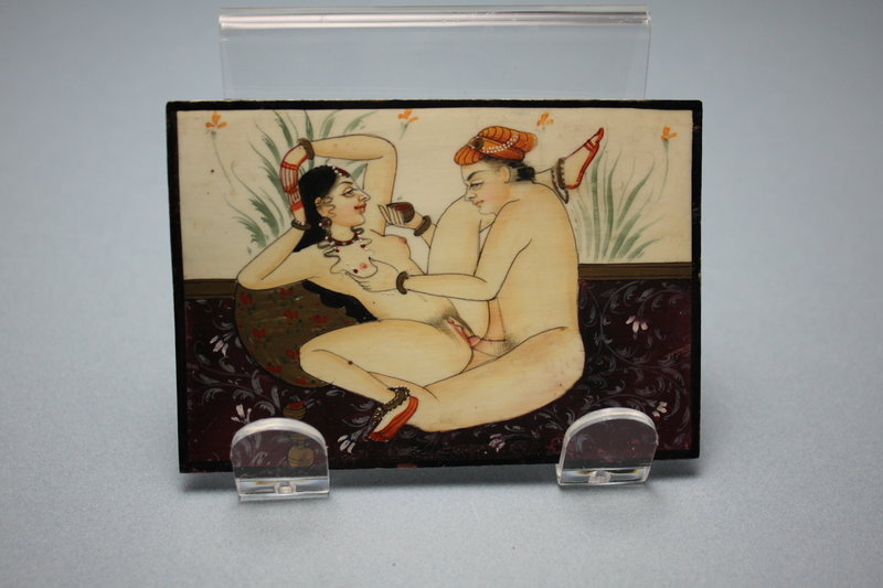 Indian Erotica Miniature Painting.