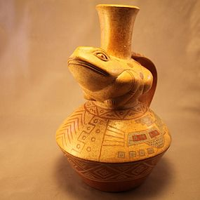 Pre-Colombian style Pottery Effigy Vessel.