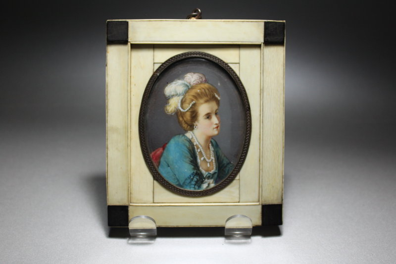 Antique Miniature Portrait Painting.