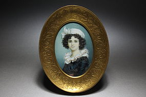 Watercolor on Ivory miniature of Madame Lebrun,