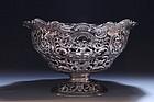 Eastern European silver Repousse Dish,