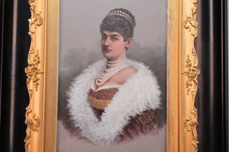 "Royal Portrait: Queen of Wurtemberg, Signed ""CKS"""