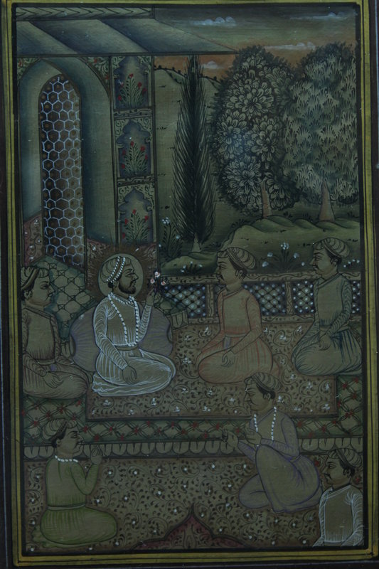 Persian Manuscript Page-Miniature Painting, 19th C.
