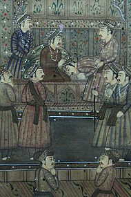 Persian Manuscript Page-Miniature Painting, 19th C.