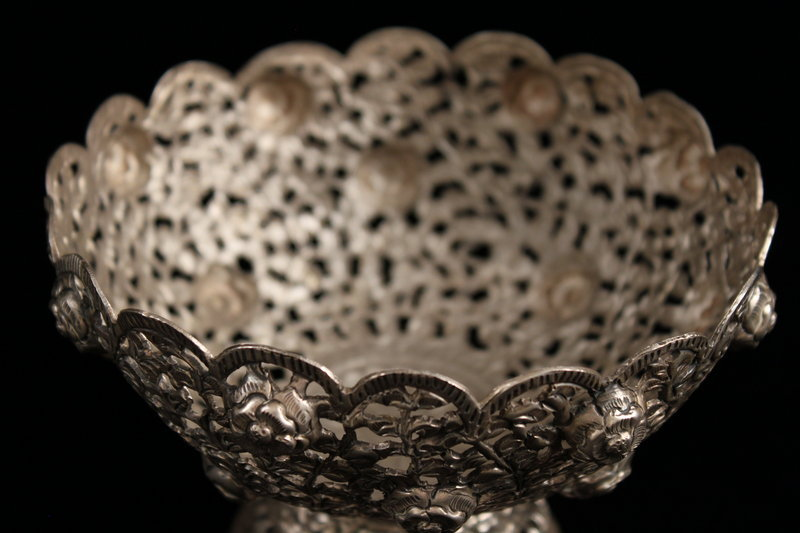 Hand Crafted Southeast Indian Silver Vessel/Bowl.