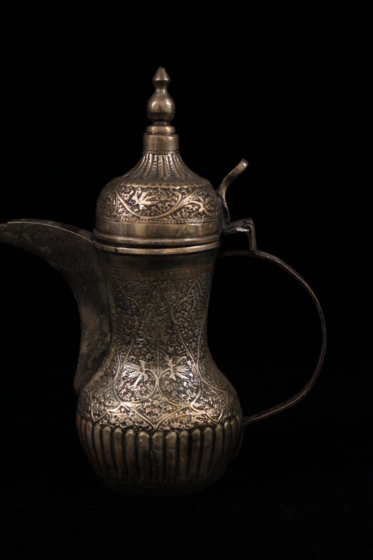 Antique Hand Crafted Indian Silver Tea Pot,19t C.
