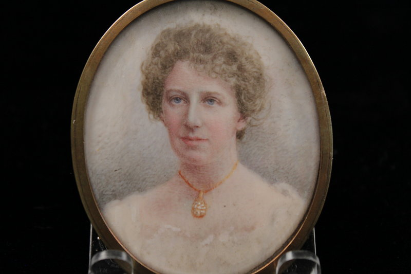 Anglo-American Miniature Portrait Painting, Ear 20th C.