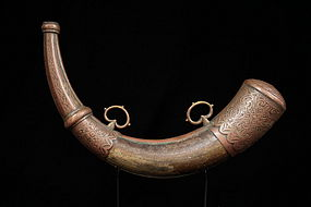 Antique Moroccan Powder-Horn, 19th c.