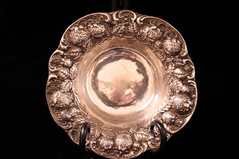 Wonderful Sterling Silver Bowl, Ear 20th C.