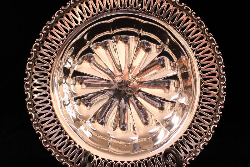 Wonderful Large Sterling Silver Bowl, Ear 20th C.