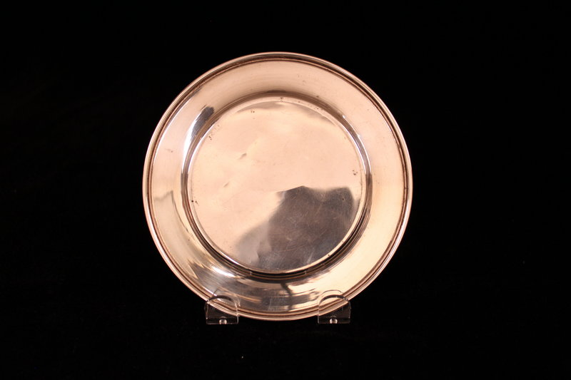 Small Antique Sterling Silver Dish/Plate, Early 20th c.