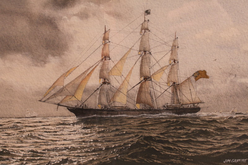 "JAMES GRIFFITHS ""Tall Ship at Sea"""