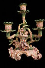 Antique German Three Candlestick with Figure, 19th C.