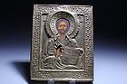 Antique Russian Icon, Late 19th C.