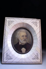19th c Miniature Portrait Painting on Ivory.