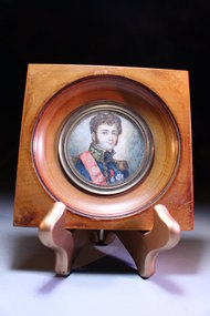 19th c Portrait on Ivory of French Military Man.