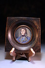 19th c Miniature Portrait Painting of French Military Man.