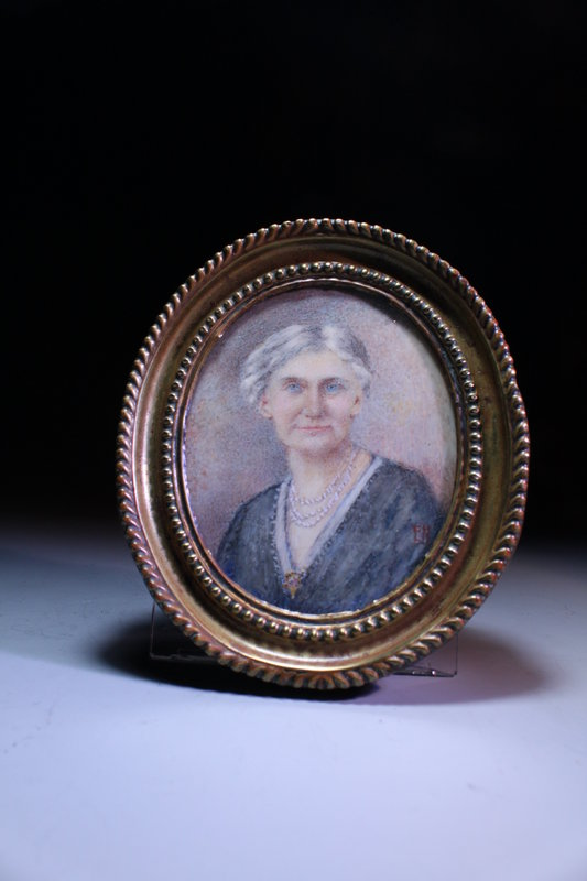 Antique American Miniature Portrait Painting,