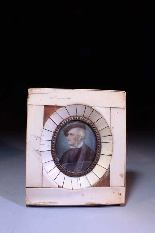 19c Miniature Portrait Paintings.