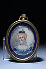 19c French Miniature Portrait Painting.