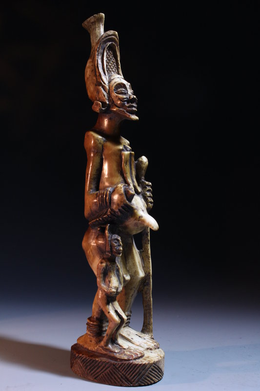 Pair of Antique African Carved Figures, 19th, c.
