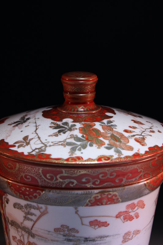 Japanese Kutani Porcelain Covered Jar,