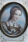 19th c. French Miniature Portrait on Ivory,