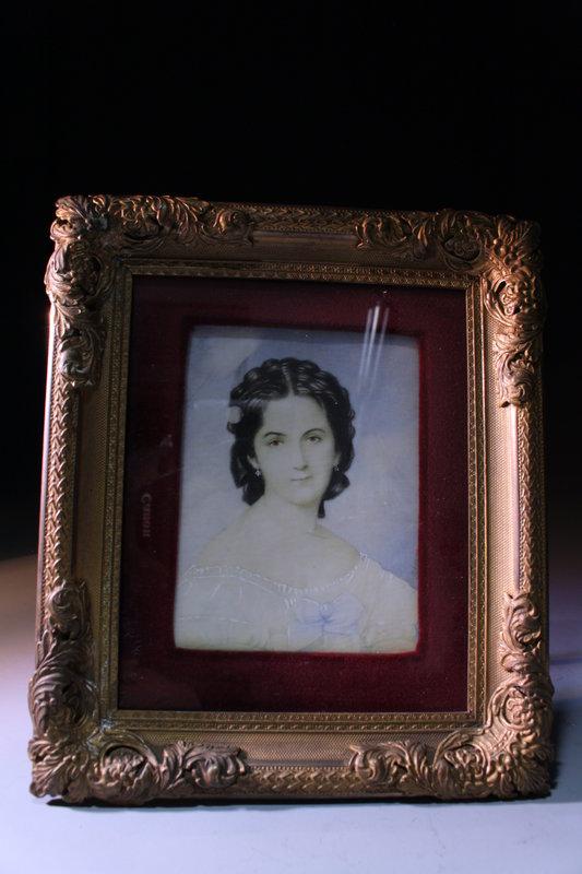 Miniature Portrait Painting, 19th C.