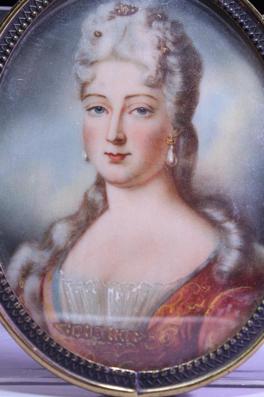 19th C. European Miniature Portrait Painting.