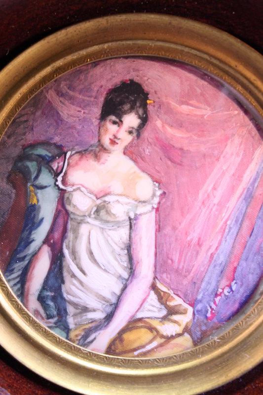 19th C. Miniature Portrait Paintings.