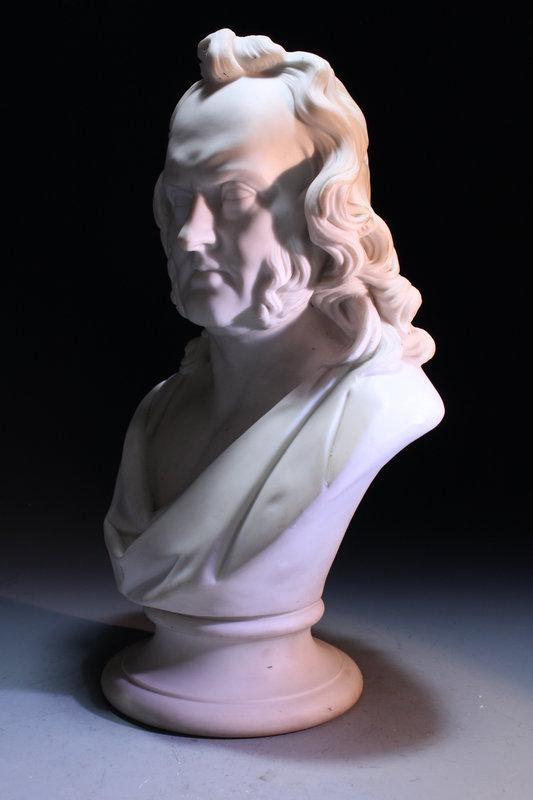 19th c. Parian Portrait Busts.