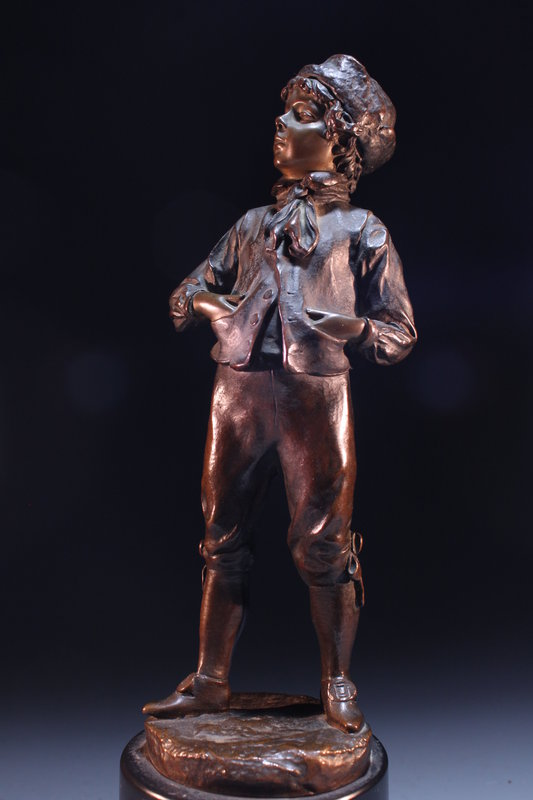 19th c. Incredible Bronze Figure of a Young Aristocrat.
