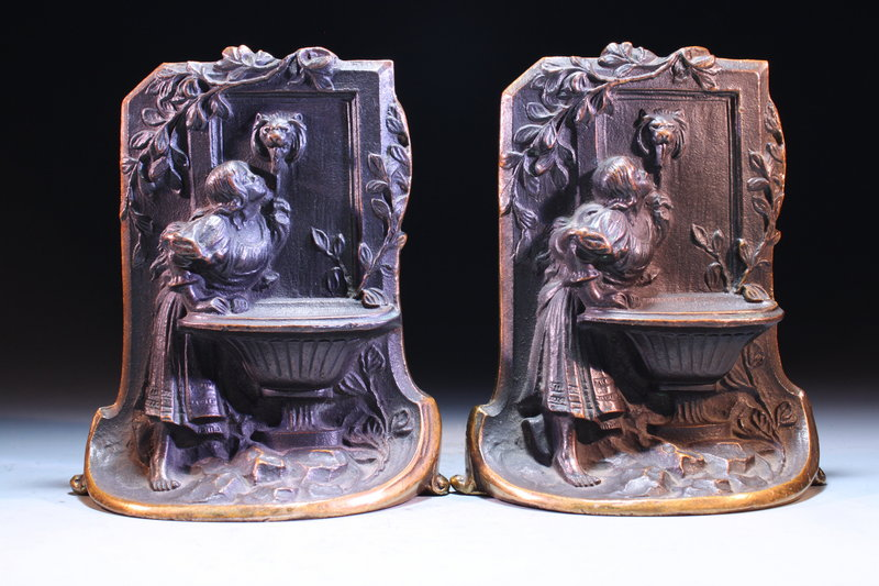 Early 20th Century Bronze Bookends,