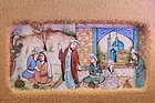 A Group of Four Persian Miniature Paintings on Ivory,