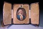 Incredible  Miniature Portrait of Washington on Ivory