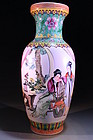WONDERFUL CHINESE ENAMELED PORCELAIN VASE,