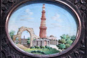 SUPERB MINIATURE PAINTINGS, QUTUB MINAR