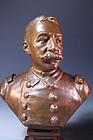 After Henri Godet, Bronze Bust of Dewey,