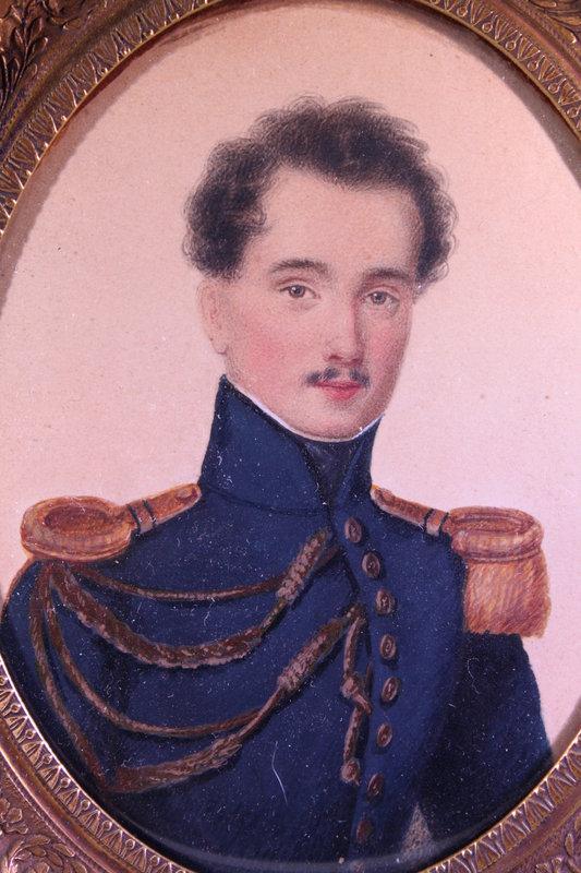 Miniature Portrait Painting, European School,