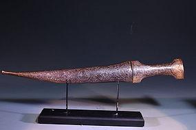 18th c. Persian Dagger and Scabbard,
