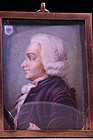 18th c. Miniature Portrait of a Man in Profile