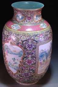 Superb Chinese Enameled Porcelain Ovoid Vase