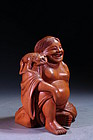 Incredible Japanese Carved Boxwood figure,