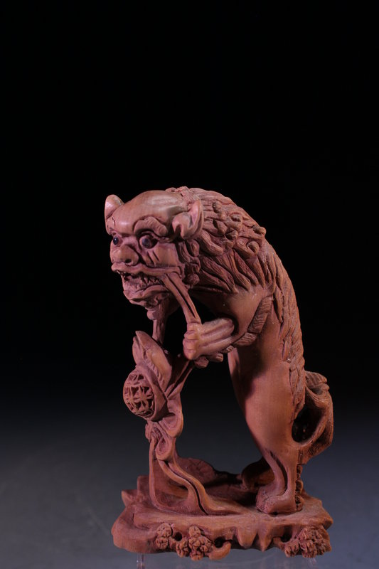 Japanese Carved Boxwood figure,