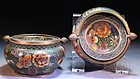 Pair of Chinese Cloisonne Ashtrays,