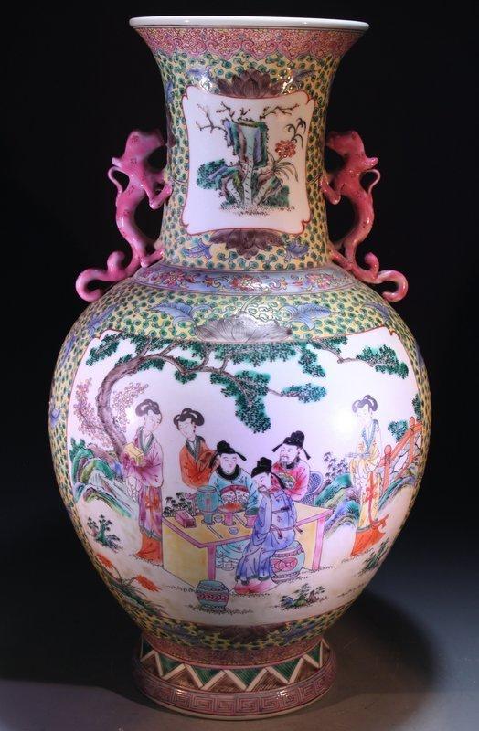Chinese Enameled Porcelain Vase, Republic Period