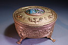 French Gilt Metal Jewelry Cask,